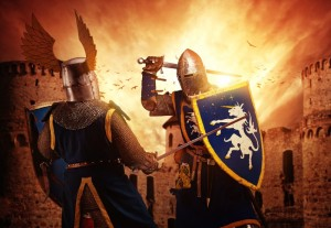 two knights fighting canstockphoto8330138