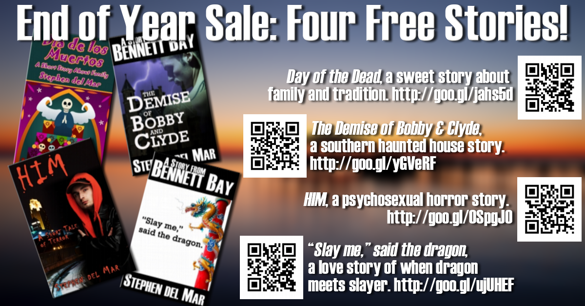 End of Year Sale: Four Free Stories!